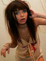 Ihawt042.. Divine brunette teen Kaira plays in her nice skimpy dress